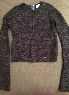 1df64971b6 Hollister, kurzer Pullover, Dunkelblau meliert, Größe XS. Yve ·  Kleiderkreisel