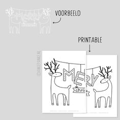 Rendieren raamtekening Merry Christmas Printable, Christmas Fun, Christmas Decorations, Xmas Crafts, Diy And Crafts, Window Writing, Saint Nicolas, Doodle Drawings, Jingle Bells