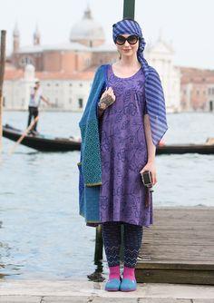 """Klänning """"Venezia"""" i bomull/modal – Venezia – GUDRUN SJÖDÉN – Kläder Online & Postorder"""