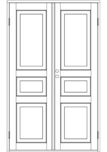 Interior Double doors - Interior Double doors - 100-203-11 - 1