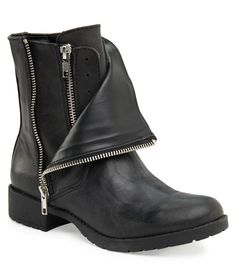 Mia Layered Moto Boot from Aeropostale Love Fashion, Fashion Shoes, Womens Fashion, Moto Boots, Shoe Boots, Black Layers, Guys And Girls, Aeropostale, Girls Shoes