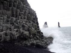 plage noire de Vik, Islande