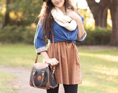 what a cute fall outfit!