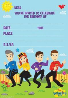 The Wiggles Party Invitations With Envelopes Anthony Emma Simon Lachy Kids Birthday Party Supplies. Invitations With Envelopes Wiggles Party, Wiggles Birthday, The Wiggles, Wiggles Cake, 2nd Birthday Party For Girl, Birthday Party Themes, Birthday Ideas, Birthday Celebrations, Themed Parties