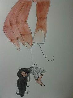 Conceptual Drawing, Dark Art Drawings, Woman Drawing, Female Art, Minions, Creepy, Moose Art, Projects, Anime