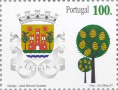 Sello: Leiria (Portugal) (Coats of arms of the districts of Portugal) Mi:PT 2210,Afi:PT 2442