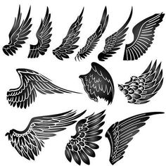 Supernatural tattoo with wings Tribal Tattoos, Eagle Wing Tattoos, Wing Tattoos On Wrist, Couple Wrist Tattoos, Wing Tattoo Men, Tattoo Designs Wrist, Tattoos Skull, Abstract Tattoos, Tatoos