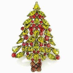 Heidi Daus Christmas Tree Pin Brooch