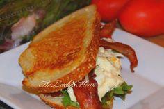 yogurt egg salad BLT sandwich