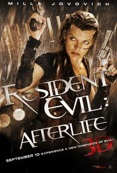 A new Resident Evil: Afterlife movie poster and photos have been released. Resident Evil: Afterlife is directed by Paul W. Anderson and stars Milla Resident Evil 5, Milla Jovovich, Corporación Umbrella, 3d Cinema, Kim Coates, Kino Film, Ali Larter, Wentworth Miller, After Life