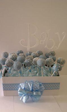 Baby Blue Pops for Baby Shower! Pops of Cake