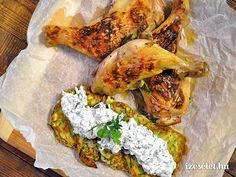 Illatos, ropogós fogás, akár vendégvárónak is bevethetjük. Könnyen elkészíthető, egyedül a csirkecomb pácolására kell időt hagynunk.