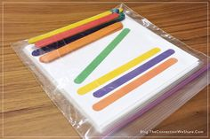 Color and matching game for kids. FREE printable download. Perfect for busy bags.