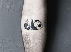 Panda tattoo by @barisyesilbas #boredpanda