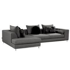 Hanna Gray Sofa w/Left Chaise  main image, 1 of 5 images.
