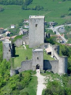 Puivert Castle, France. I got to ride into this castle on horseback.