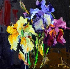 Buy Irises, Oil painting by Andriy Naboka on Artfinder. Discover thousands of other original paintings, prints, sculptures and photography from independent artists.
