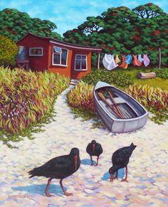 Rachel Olsen Artist - buy Original New Zealand Art Nz Art, Art For Art Sake, New Zealand Landscape, New Zealand Art, Art Folder, Maori Art, Kiwiana, Amazing Street Art, Surf Art
