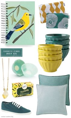 Favorite Finds Under $30: Teal + Citron - Home - Creature Comforts - daily inspiration, style, diy projects + freebies