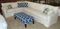 Sure Fit Sectional Slipcover - Home Furniture Design Sure Fit Slipcovers, Home Furniture, Furniture Design, Sectional Slipcover, Homemaking, Sofas, Couch, Living Room, Monaco