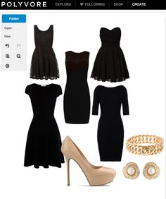 Polyvore is a great tool for putting together recruitment outfits and sharing them with the chapter.