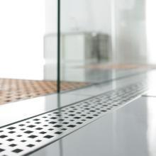 Caniveau pour douche /à litalienne inox motif BULLES 6 tailles disponibles 60