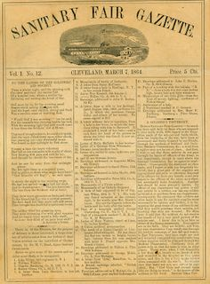 Sandusky History: Medicine in the Civil War: Part Three -- The U.S. Sanitary Commission