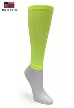 Solid High Viz yellow compression sleeve from #crazycompression #crazyclan  www.crazycompression.com