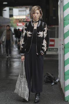 Street style at Tokyo Fashion Week Spring 2017