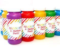 Bubble Labels / Favors Rainbow Birthday Party DIY PRINTABLE by FarmerDesign, $6.00
