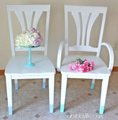Color dipped chair tutorial