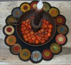 Click Picture for Closeup View  scrappy penny candle mat