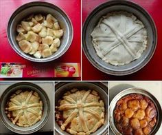 Zobrazit detail - Recept - Jednoduchý obrácený jablkový koláč