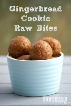 Gingerbread Cookie Raw Balls - Vegan, Gluten Free, Sugar Free