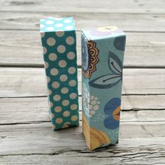 This is a fun tutorial for making a pretty craft paper box for your lip balm. You can create lots of little boxes to use as packages for presents - simply pop a tube of lip balm in each box for a...