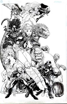 Arthur Adams - what a surreal conglomerate of characters.