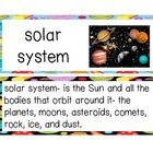 """This set of vocabulary cards include 43 words from the """"Magic School Bus Lost in the Solar System"""". I have included words that are througout book. ..."""