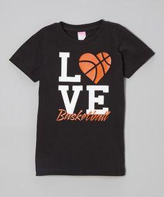 Black Love Basketball Tee Toddler Girls Zulily Love And Basketball Basketball Shirts Basketball Tees