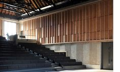 """Aldeburgh Music Creative Campus, Suffolk, UK, Haworth Tompkins // """"Jerwood Kiln Studio (converted from a derelict kiln building), can also accommodate 80 for public performances. Further practice rooms and support facilities are formed within derelict granaries."""""""
