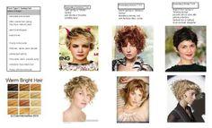 Hair for Type 1- random, choppy, animated. color=warm, bright