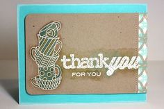 Thank You For You Card by Heather Nichols for Papertrey Ink (August 2013)