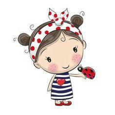 Miss Beetle heart plotter file - Plotten - Cartoon Cartoon Drawings, Cute Drawings, Cute Images, Cute Pictures, Whatsapp Dp Images, Cute Cartoon Girl, Clip Art, Cute Clipart, Clipart Images