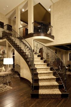 Staircase is gorgeous!