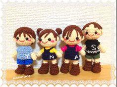 pandilla de niños amigurumis pagina japonesa