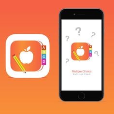 Seeking Fun New App Icon For Multiple Choice Nutrition Exam App by Clicky inc