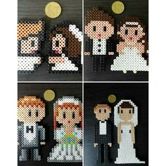 Wedding couples hama beads by mpagesm