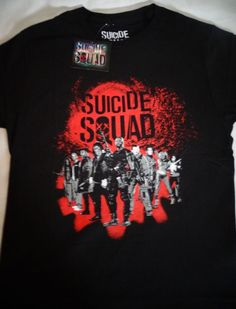 Suicide Squad Group Harley Joker Deadshot Killer Croc Dc Comics T-Shirt Nwt #SuicideSquad #GraphicTee