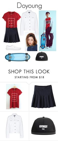 """""""Doyoung NCT U Teaser Image"""" by k-lookbooks ❤ liked on Polyvore featuring Bebe, Wood Wood, Givenchy and Vans"""