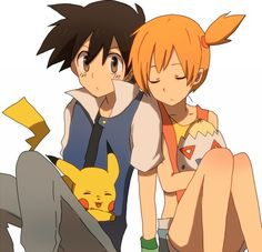 Ash)Satoshi And Misty, Pikachu And Togepi pokeshipping ❤️