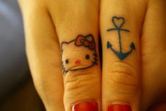 Hello kitty is cute, but I'm interested in the anchor part. The blue would be perfect for type 1 diabetes color